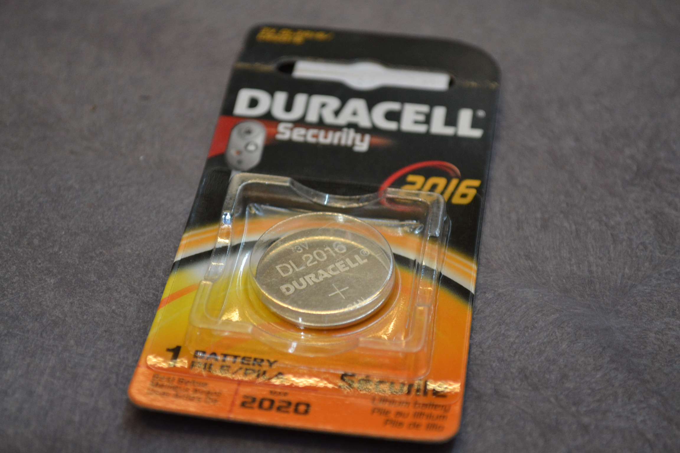 Duracell Security 2016 1 Count Coin Button Coin/Button