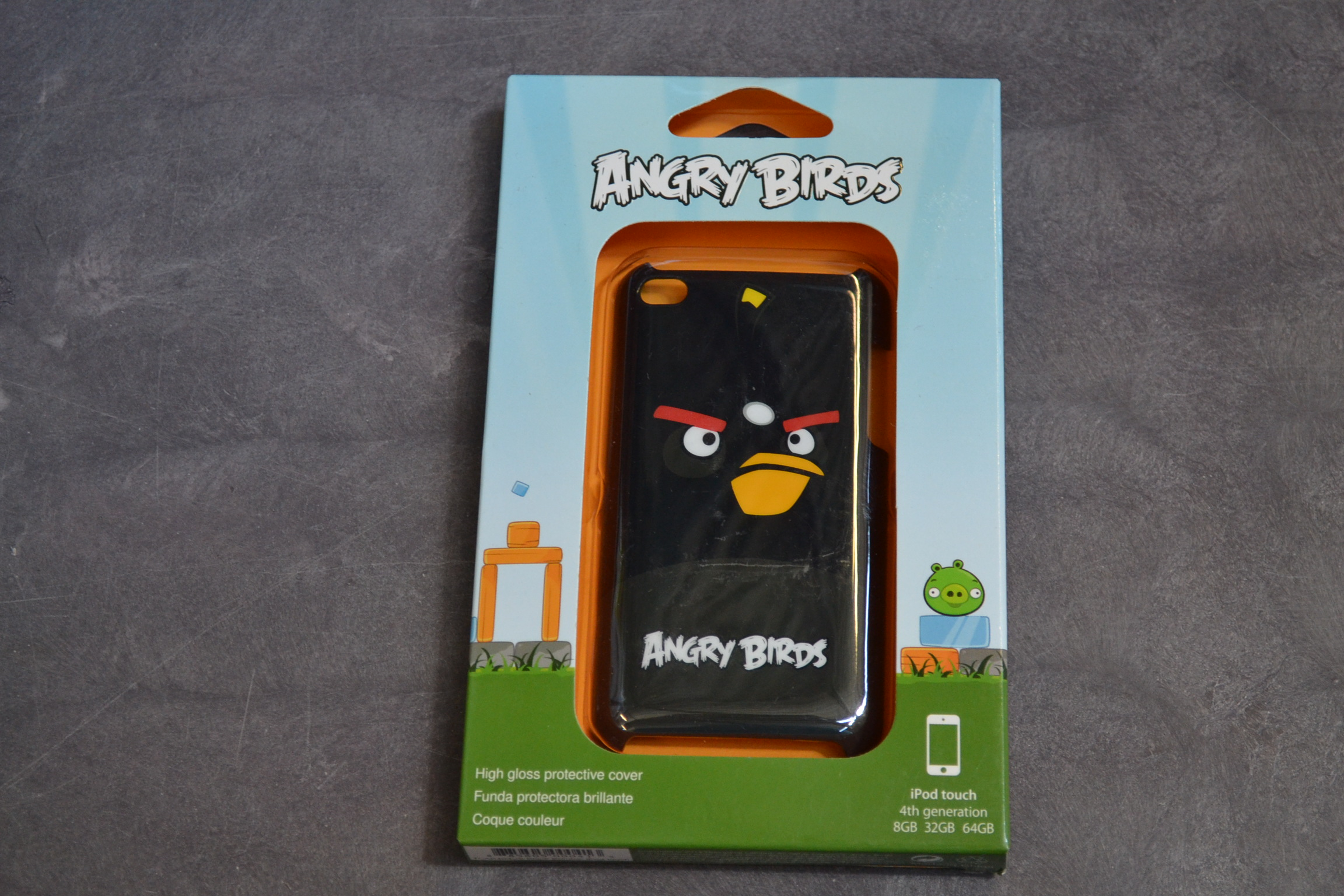 GEAR4 Angry Birds Case For iPod Touch Black Bird Fitted EX-310W EX-310W