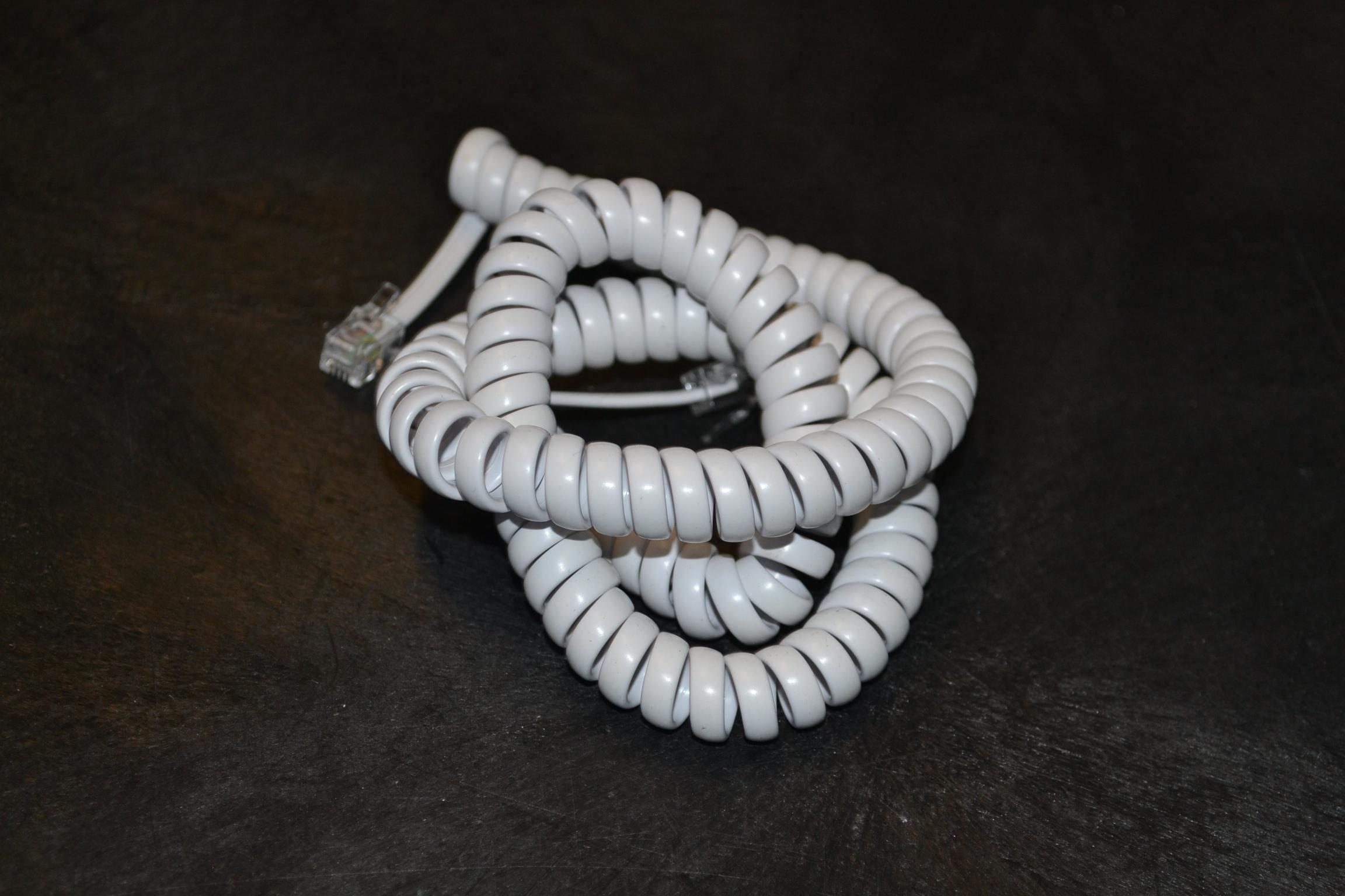 Jasco 12 White Handset Cord JAS-TL86175 Telephone